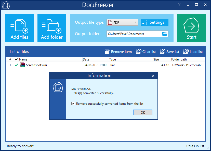 Combine, Merge or Split PDF & TIFF Files with DocuFreezer 2 0