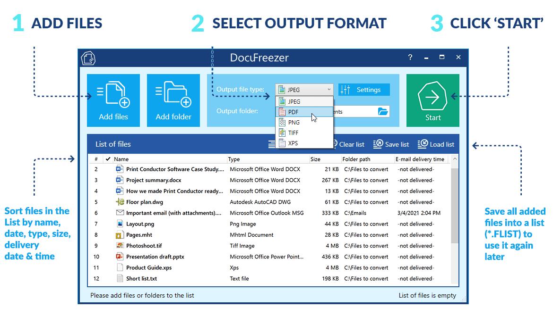 Batch convert many documents step by step