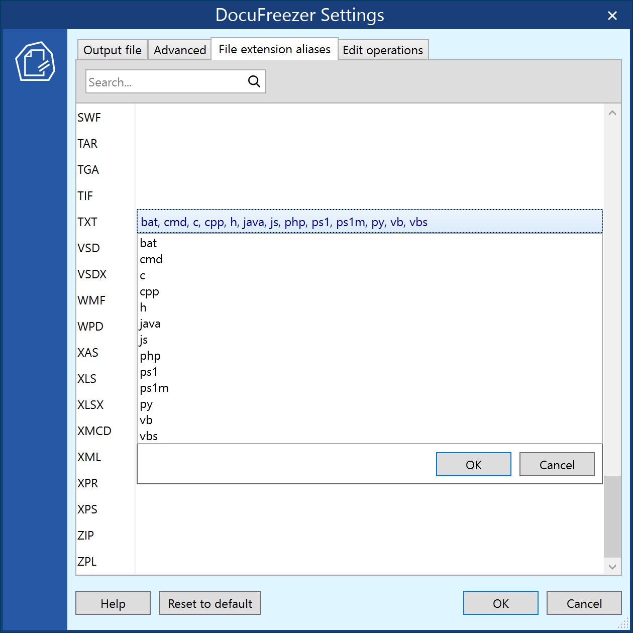 File extension aliases