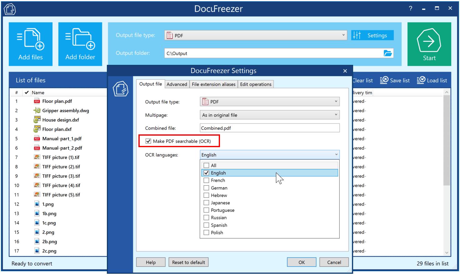 Simple OCR software & PDF Converter for Windows